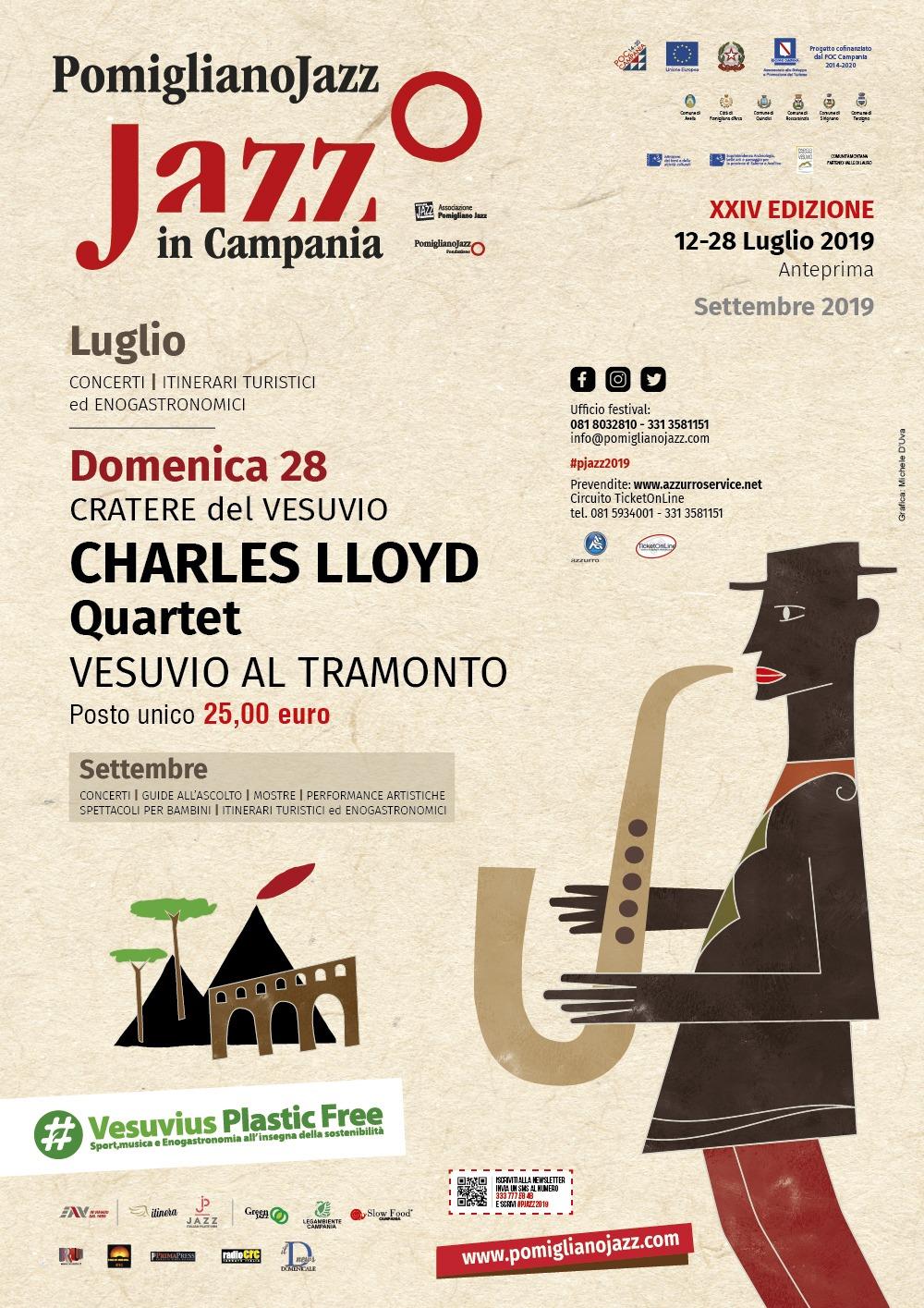 Pomigliano Jazz concerto sul Gran Cono del Vesuvio